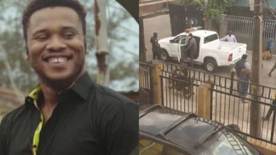 #EndSARS: Police Officers Storm Ikeja Residence Of Activist, Take Him 'By Force' (Video)