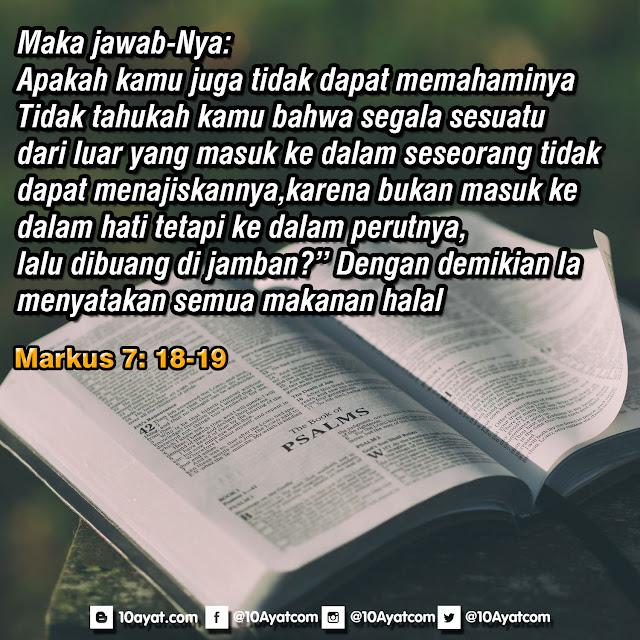 Markus 7: 18-19