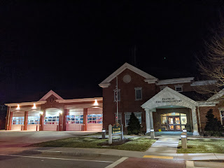 Franklin Fire Dept Station 1 - downtown at night