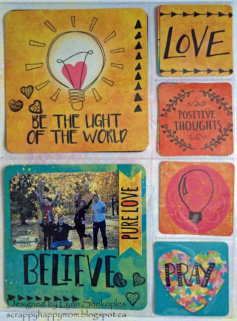 Be The Light 8x9 Misc.Me by Lynn Shokoples for BoBunny featuring the Believe Collection and the Amen Stamp Set