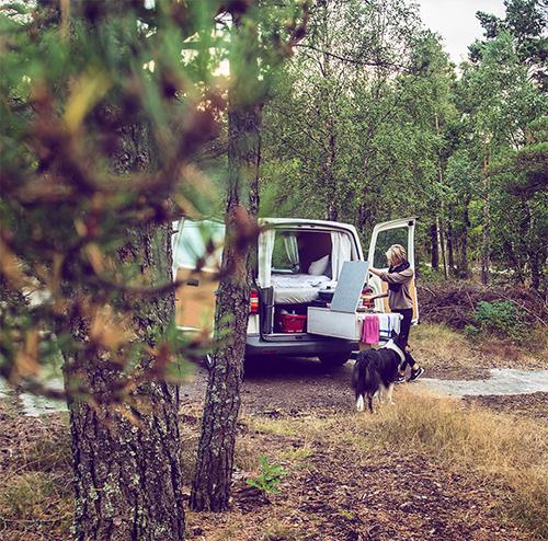 Übernachten in Schwedischen Wäldern mit dem Camper