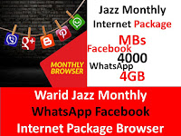 Jazz Package, Jazz Internet Package, Jazz Monthly Packages, Jazz Monthly Internet Package, Jazz Facebook Package, Jazz WhatApp Package, Jazz Monthly Facebook Package, Jazz Monthly WhatsApp Package
