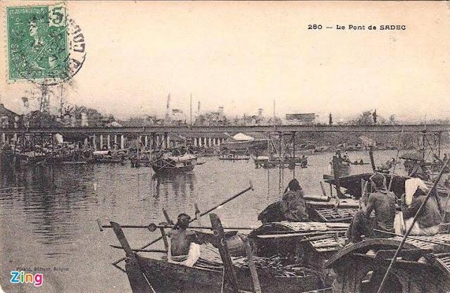 Cầu sắt Quay Sa Đéc xưa