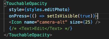 TouchableOpacity tidak bisa diklik