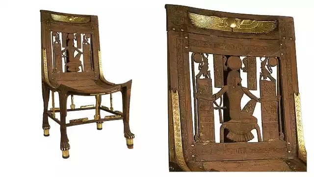 Eternity Chair with god Heh of Tutankhamun