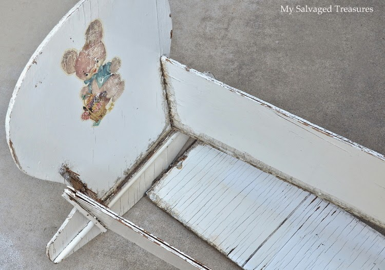 how to repurpose a broken doll cradle