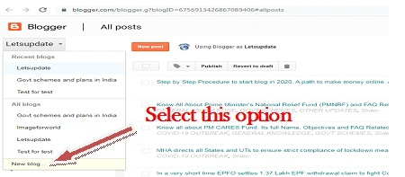 letsupdate, learn blogging-2020, for online money, create new blog, first step