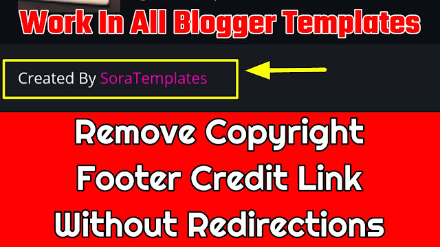 Remove footer credit link from blogger templAte