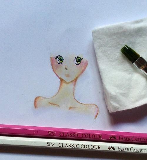 Mewarnai Manga Skin Dengan Pensil Warna Mayagami