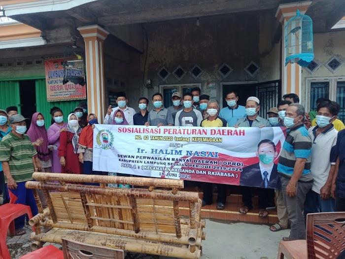 Ketua Komisi II DPRD Lamsel Ajak Pemuda Aktif Membangun Daerah