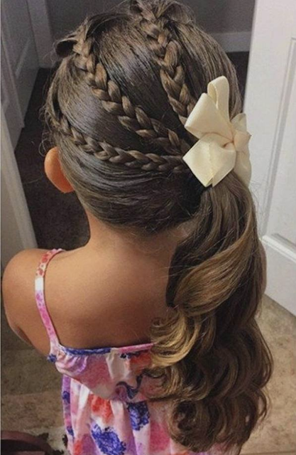 little girl braid hairstyle 2019