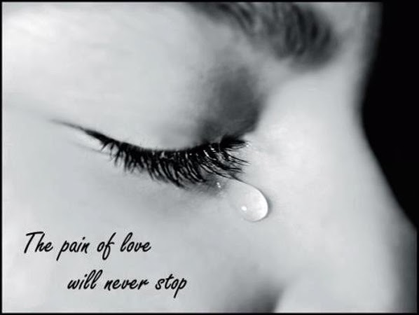 pain of love sad girl crying