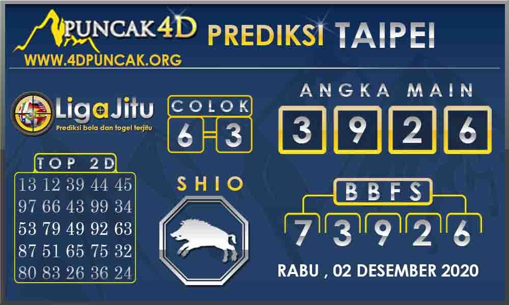 PREDIKSI TOGEL TAIPEI PUNCAK4D 02 DESEMBER 2020