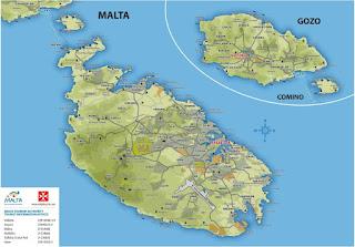 Mapa de Malta.