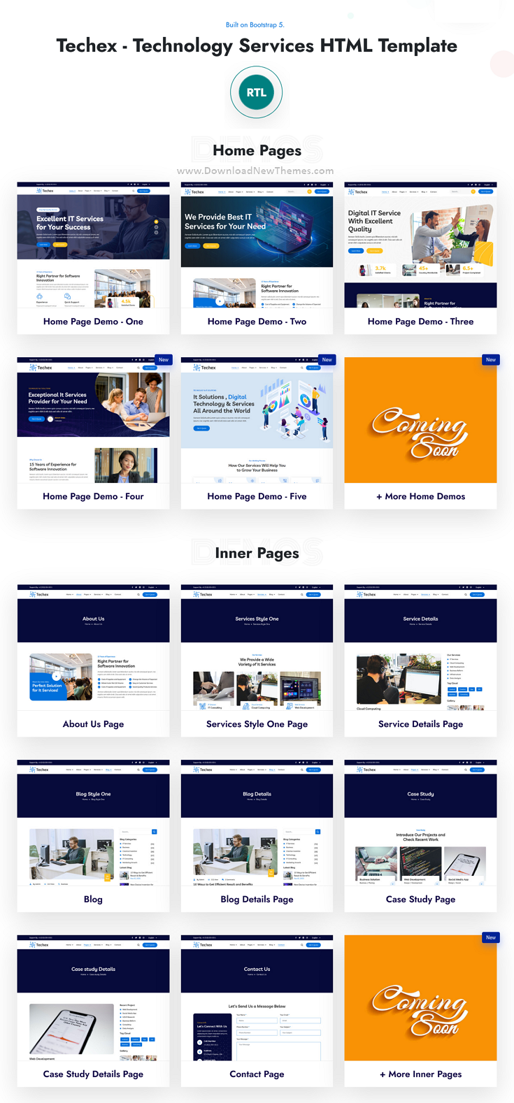Techex - Technology Services HTML Template