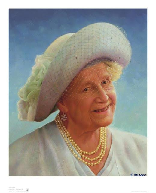 Queen Mother Oil Portrait by Artist John Allsopp