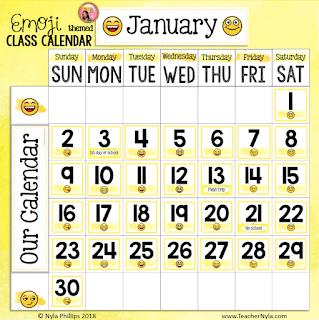 emoji theme class calendar editable