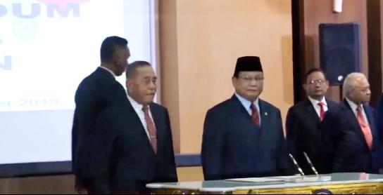 Prabowo Subianto Terima kunjungan kehormatan Pejabat Menteri Pertahanan AS