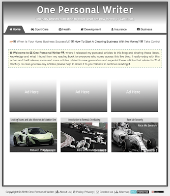 Grid Layout Menu Templet for Blogger Simple