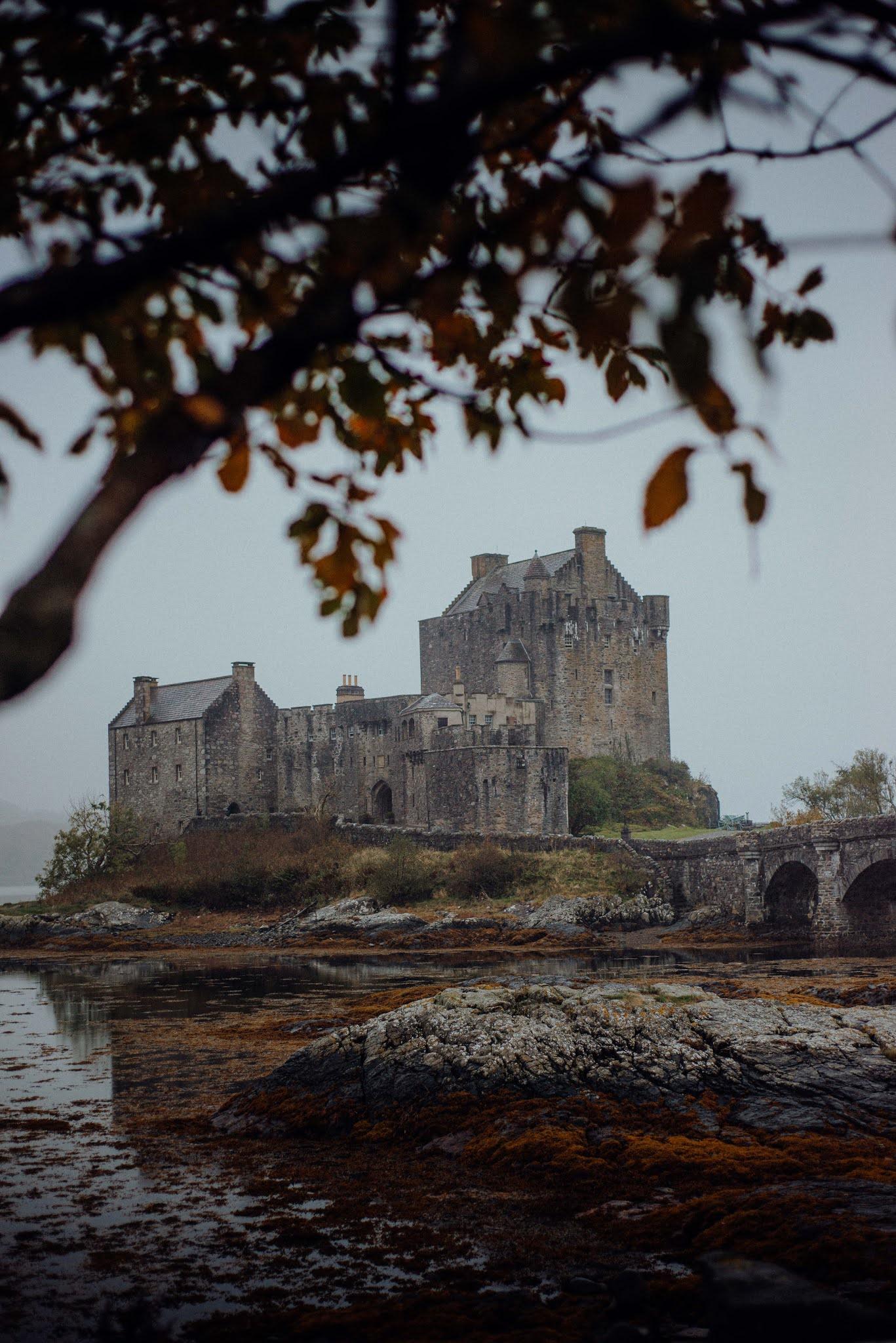 Eilean Donan Castle scotland liquid grain