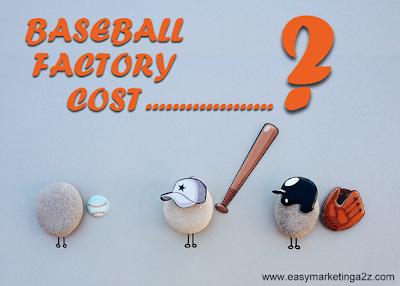 baseball factory cost