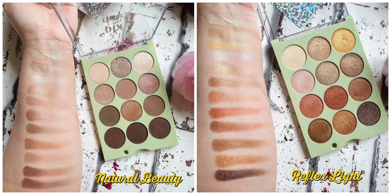 Pixi Beauty Eye Reflections Shadow Palettes swatches