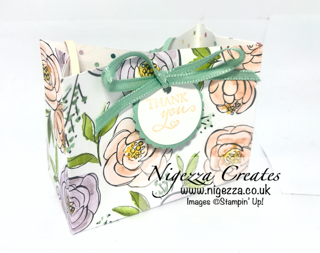"Nigezza Creates with Stampin' Up! Quick Easy Gift Bag From 6""x6"" Best Dressed DSP"
