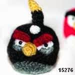 patron gratis pajaro negro angry bird amigurumi, free amiguru pattern black bird angry bird