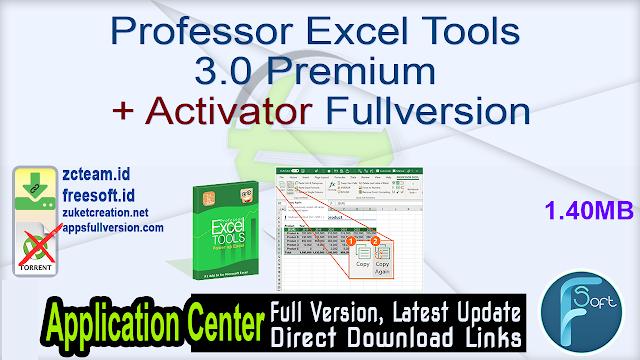 Professor Excel Tools 3.0 Premium + Activator Fullversion