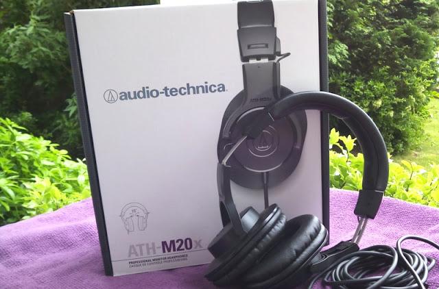 Audio Technica Ath-M20x Unopen Dorsum Studio Headphones Amongst Apartment Eq!