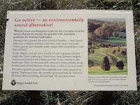 Using native grasses - Royal Botanic Gardens, Sydney, Australia