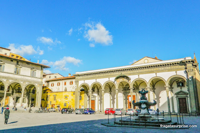 Fonte dos Monstros Marinhos, na Piazza della Santissima Annunziata, Florença