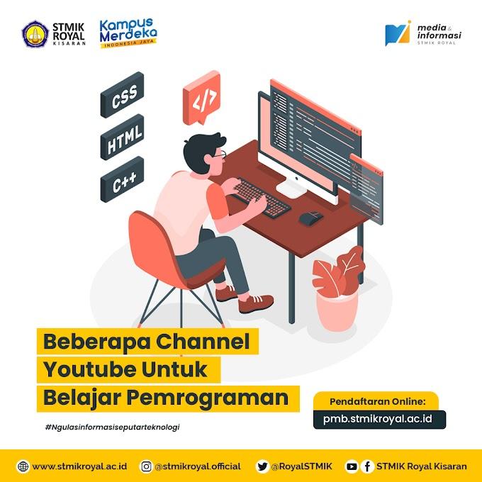 Beberapa Channel Youtube untuk Belajar Pemrograman