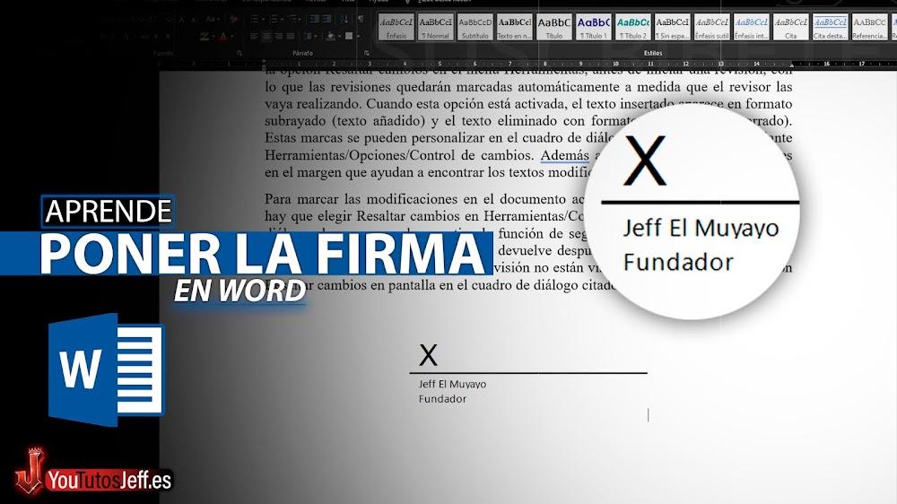 Como Poner la Firma en Documento Word