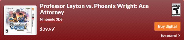 Professor Layton vs. Phoenix Wright: Ace Attorney buy digital Nintendo.com physical