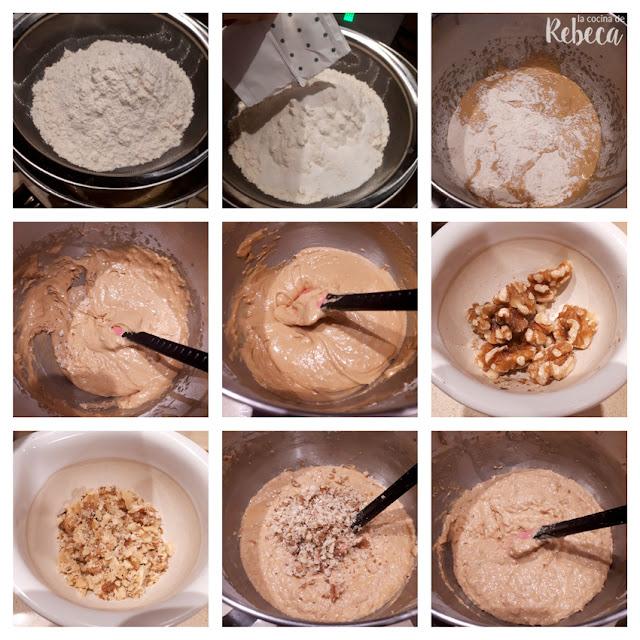 Receta de bizcocho de membrillo  y nueces: elaboración de la masa 02