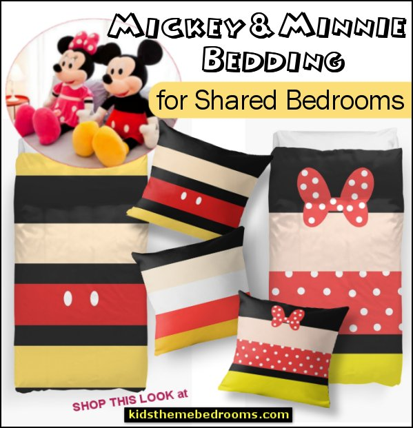 mickey minnie bedding shared bedroom decor mickey mouse minnie mouse bedding