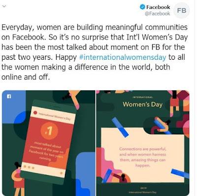 #internationalwomensday اليوم العالمي للمرأه فيسبوك يحتفل المسوقين ترويج