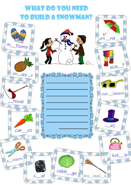 snowman building worksheet
