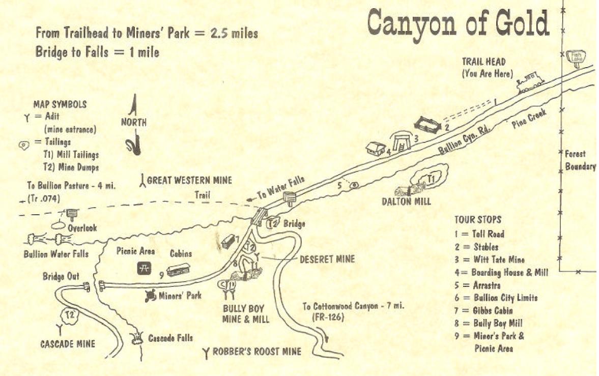 Marysvale Utah Map.Gavin Hollinger Us Dalton Gold Mine In Bullion Canyon Marysvale Utah