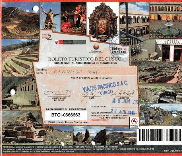 Boleto Turístico de Cusco, Peru