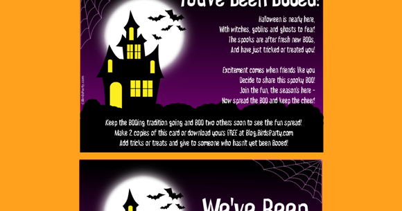 photo relating to Trick or Treat Signs Printable referred to as No cost Youve Been BOOed Printable Halloween Indicators - Social gathering