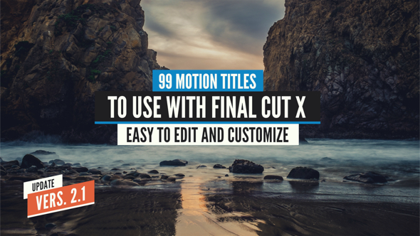 99 final cut x titles pack videohive free download apple motion templates