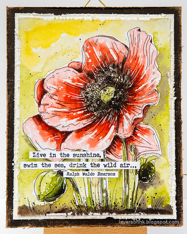 Layers of ink - Poppy Watercolor Tutorial by Anna-Karin Evaldsson.