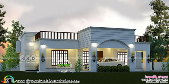 Budget oriented home plan by Forms 4 architectural from Kerala