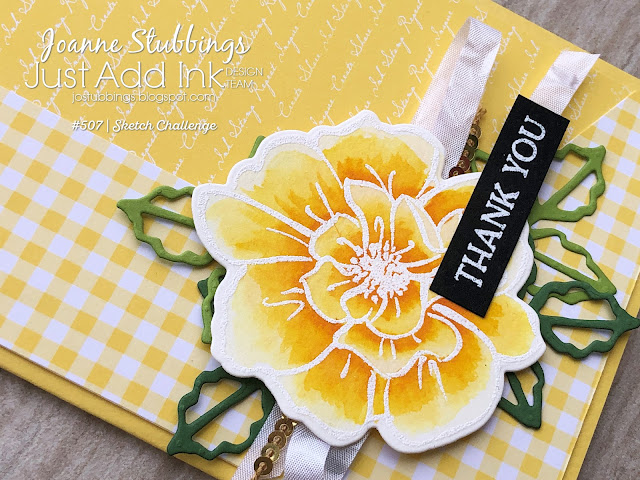 Jo's Stamping Spot - Just Add Ink Challenge #507 using To A Wild Rose bundle from Stampin' Up!