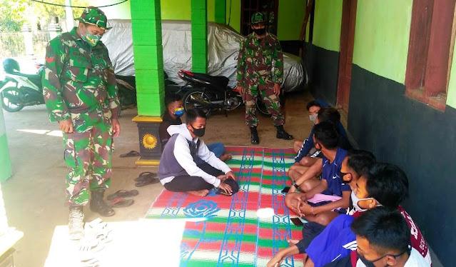 TMMD Sertu Heriyadi Berikan Pembinaan Terhadap Generasi Muda Desa Jatiwarno