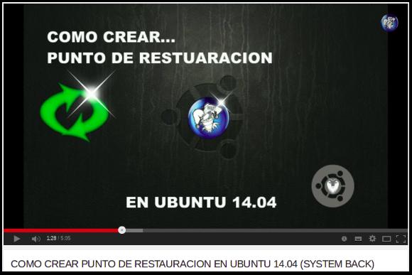 RESTAURACION EN UBUNTU 14.04