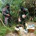 Melalui Jalur Tikus, Satgas Pamtas Yonif 642 Amankan Berbagai Merk Tablet Ilegal dari Malaysia