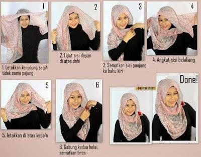 Panduan Mengenakan Jilbab Pashmina Untuk Wajah Bulat